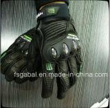 Corsa dei guanti di cuoio di sport del motociclo