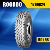 Todos os pneus baratos radiais de aço da polegada do pneumático 1200r24 do caminhão 24