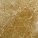 Mármol de mármol marrón claro de Emperador de la luz de la losa producido de China