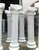 elfenbeinfarbener römischer Marmorierungpfosten (BJ-FEIXIANG-0050)