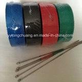 Envoltório de isolamento do encabeçamento preto resistente ao calor da exaustão da fibra de vidro