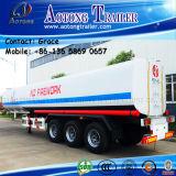 Aotong Tanker-Tri Wellen-Heizöl-Becken-halb Schlussteil 45000 Liter Kraftstoff-Tanker-Schlussteil-für Verkauf