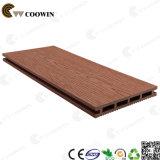 Decking composé en plastique en bois de composé de cannelure de dock