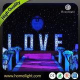 2m * 3m Blue & White Fireproof Flexible Backdrop LED Curtain Light avec contrôleur pour mariage / DJ