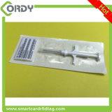 microchip animais da seringa RFID do identificador dos microchip da identificação de 2*12mm para o animal