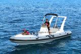 Barco inflável rígido de barco de pesca de Aqualand 22feet 6.45m/motor do reforço (650C)