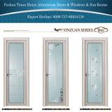 Porte intérieure en aluminium de salle de bains avec glacer différent