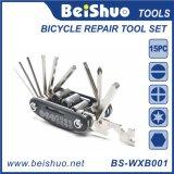 Herramienta de múltiples funciones de la bicicleta de la bici de la llave inglesa ajustable del destornillador