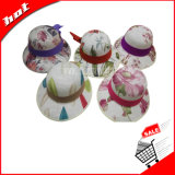 Sombrero del verano, sombrero del verano de la impresión, sombrero de la mujer
