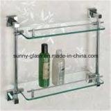 6mm закаленное замороженное стекло полки для комнаты ливня