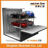 Pfosten-hydraulischer Auto-Parken-Aufzug der Vertiefung-zwei