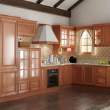 Euro Export Cherry Solid Wood Kitchen Cupboard (OP15-S04)
