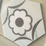 Beste Preis-Blumen-Wasserstrahlmosaik für Innendekoration