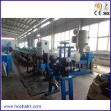 Extrusora plástica para a produção do fio e do cabo