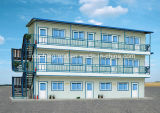Vorfabriziertes Haus mit hellem Stahlfeld (neues Modell)
