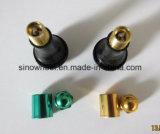 ゴム製弁茎Tr413ACのカラー袖のスナップを使って