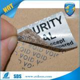 De matte Zilveren Sticker van de Verbinding van de Veiligheid van de Verbinding van het Bewijs van de Stamper
