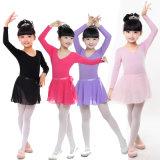 Трико танцульки Spandex хлопка 5% 95% для девушок