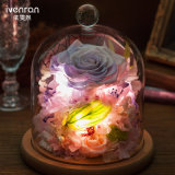 Tipo hecho a mano de la flor de la noche de la flor verdadera natural del 100% flor de la lámpara de la noche para el regalo