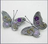 Escultura Gardem da borboleta de Polyresin e decoração Home (JN4)