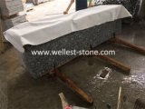 Willekeurige Rand van de Plakken van het Graniet van de Platen van het Graniet van de Golf van het Graniet van de nevel de Witte Witte