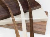 bordure foncée de PVC de 0.5mm/1mm/2mm avec la fibre de bois et la couleur solide