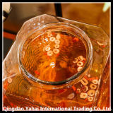 Erogatore di vetro spremuta/del vino/bottiglia di vetro del quadrato