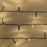 La chaîne de caractères solaire de 50 DEL allume le blanc chaud avec 2400 cm