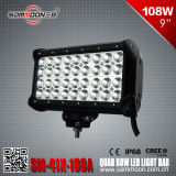 9インチ108W (36PCS*3W) PencilまたはFlood/Combo Beam Quad Row LED Light Bar (SM-41X-108A)