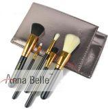 Los cepillos del maquillaje de la muestra libre/el conjunto de cepillo plástico del maquillaje de la maneta/la insignia de encargo componen los cepillos 5 PCS/conjunto