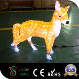 Luz de acrílico del Fox de la decoración LED de la Navidad