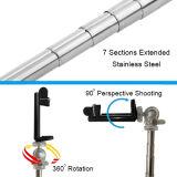 Smartphoneのための7つのセクションステンレス鋼のBluetooth組み込みのSelfieの棒