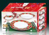 20PCS Dinner Set com Christmas Design (HJ10000)