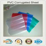Feuille ondulée de toiture semi-transparente de PVC