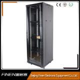 """cabina de acero del servidor del estante de 19 """" de la parte posterior de cristal delantera de la puerta de la puerta 37u datos de la red"""