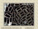 Tuyauterie rectangulaire soudée de l'acier inoxydable 304