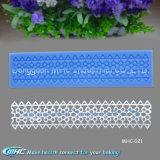 Basse décoration de gâteau de natte de silicone de lacet de catégorie comestible de MOQ