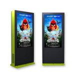49 LCD van de Tribune van de Vloer van de duim de Waterdichte OpenluchtKiosk van de Reclame