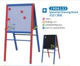 Support en bois avec Whiteboard magnétique et tableau noir pour des enfants pour des enfants