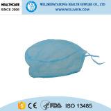 Bouffant descartáveis esfregam chapéus com elástico traseiro e os laços