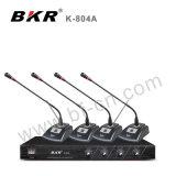 Sistema sin hilos K-804A del micrófono de la reunión de un precio más barato del VHF