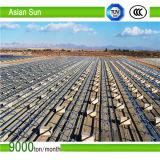 Estrutura de painel solar à terra ajustável do anúncio publicitário, suporte industrial do painel solar da montagem