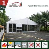 Tente en verre décorée pour la restauration provisoire extérieure