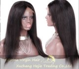 22inch 130%년 Density Straight 브라질 Virgin Human Hair Full Lace Wig