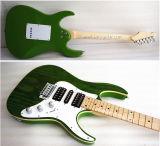 Prs кожи золы плоской верхней части зеленого цвета гитара младших электрическая
