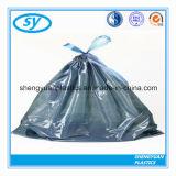 Bon sac d'ordures en plastique bon marché coloré de cordon de qualité de vente