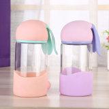Nette kleine Glaswasser-Flasche der Katze-Form-300ml (CHB8005)