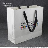 OEMのロゴのカスタマイズされた白いクラフトのショッピング・バッグ