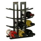 Cremalheira de indicador de madeira contínua creativa do vinho da cremalheira do vinho de 12 frascos