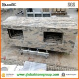 Partie supérieure du comptoir blanches de salle de bains de quartz de Caesarstone Carrare pour l'hôtel et la ressource